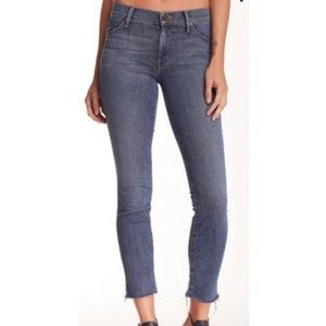 Mother Jeans Looker Ankle Fray Sz 27